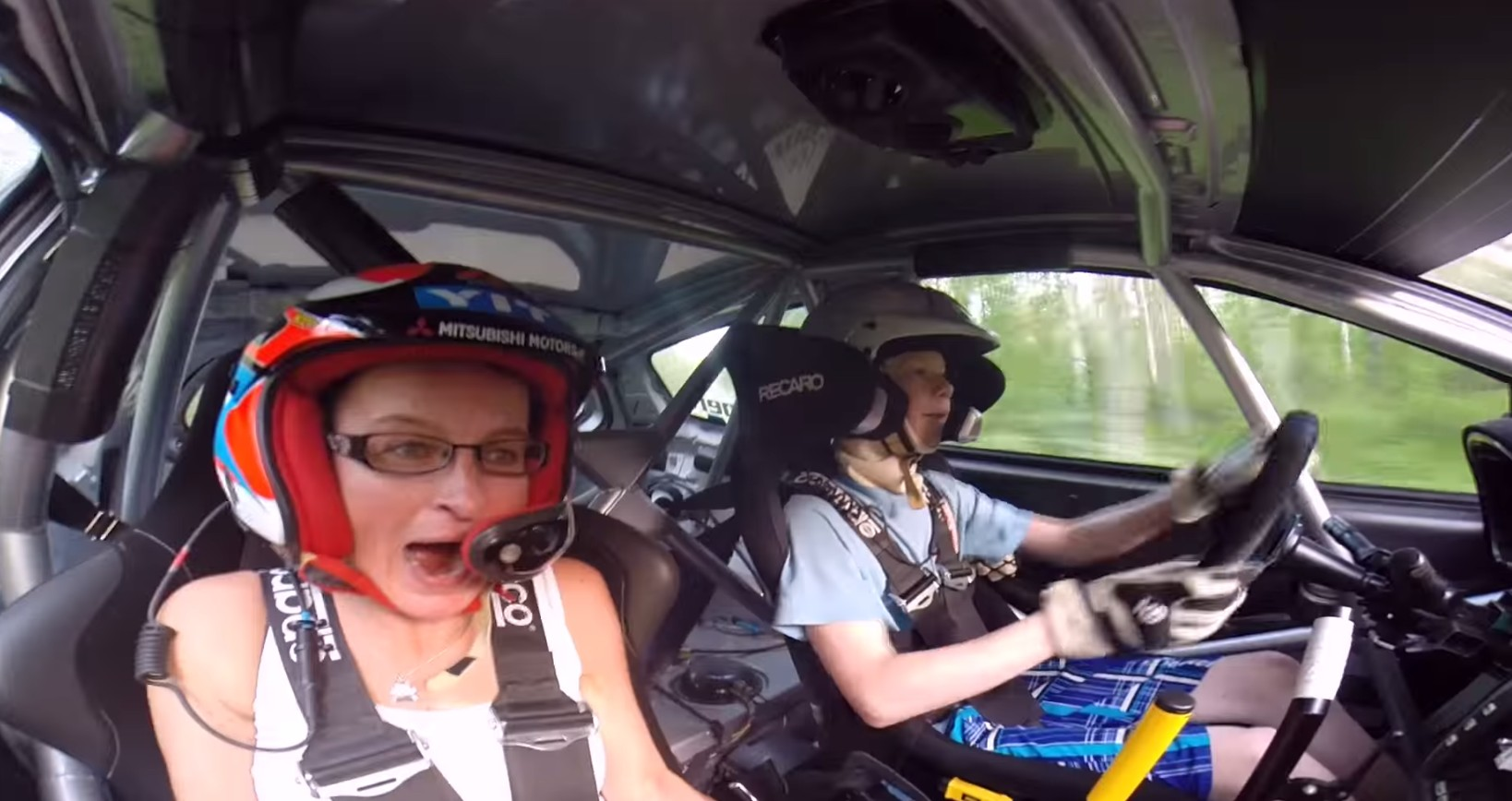 13 Year Old Finn Rally Driver Scares Hilarious Passenger