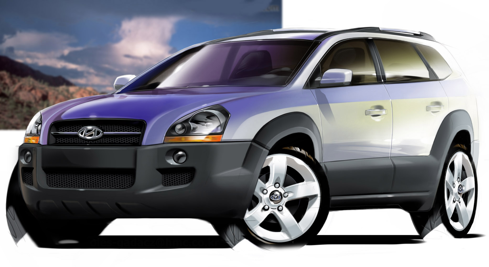 Hyundai launching tucson in 2004 the car connection for Hyundai motor finance usa