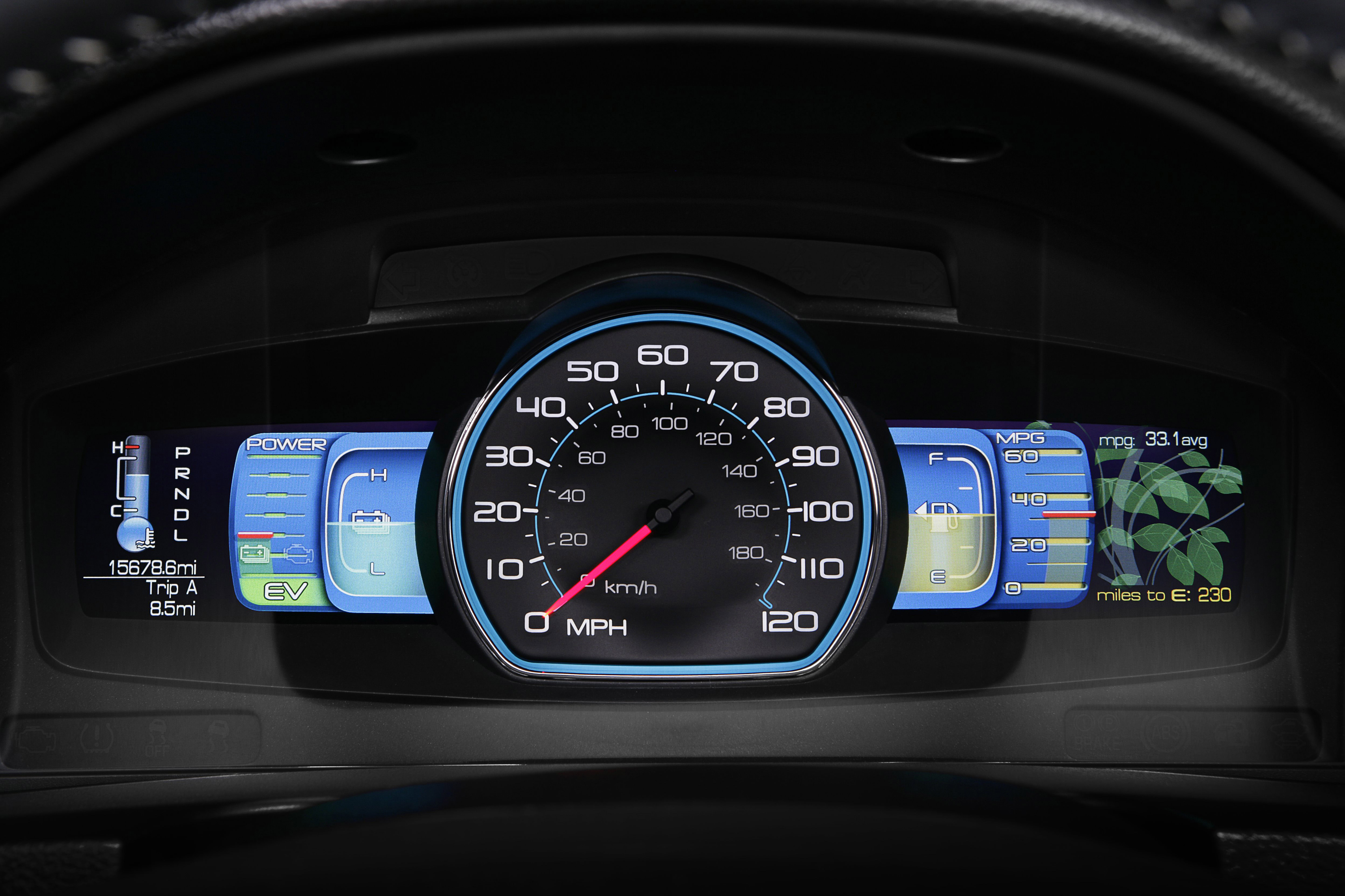Ford Fusion Hybrid Smart Gauge with EcoGuide Intriguing Even For Avid Hypermillers