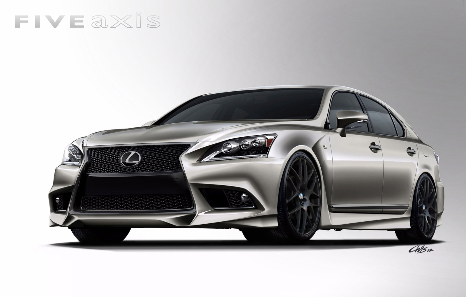 2013 lexus ls 460 f sport by five axis heads to sema show. Black Bedroom Furniture Sets. Home Design Ideas