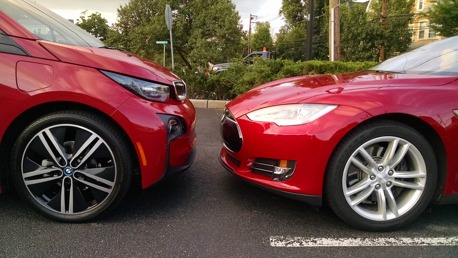 Tesla plug in hybrid and electric vehicles