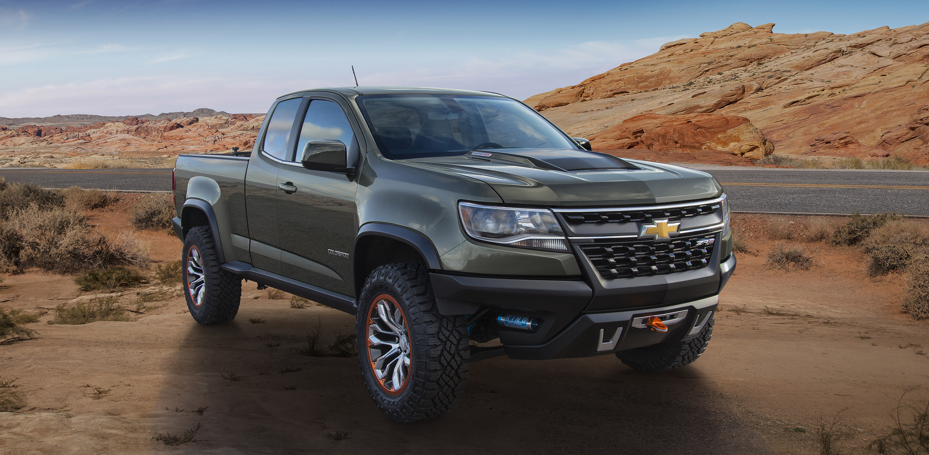 chevrolet colorado gets zr2 concept with turbodiesel power 2014 los angeles auto show. Black Bedroom Furniture Sets. Home Design Ideas