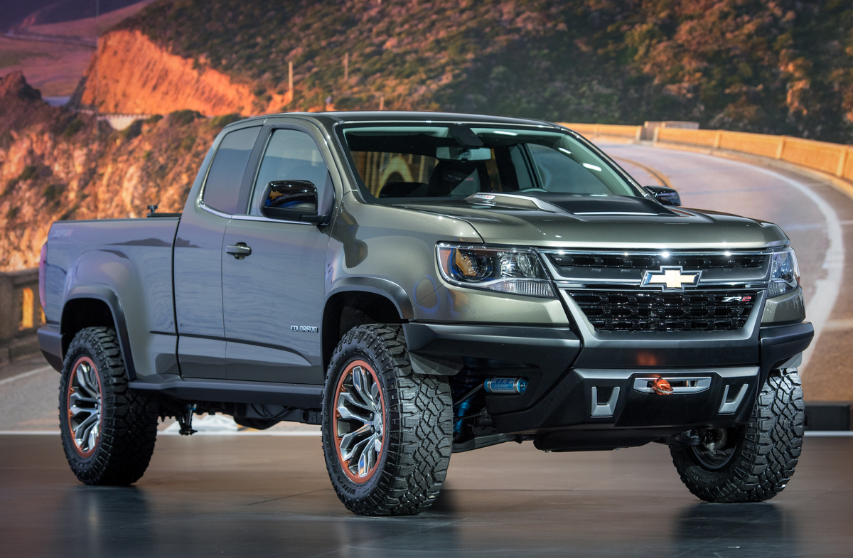 diesel powered chevrolet colorado zr2 concept crawls into l a. Black Bedroom Furniture Sets. Home Design Ideas