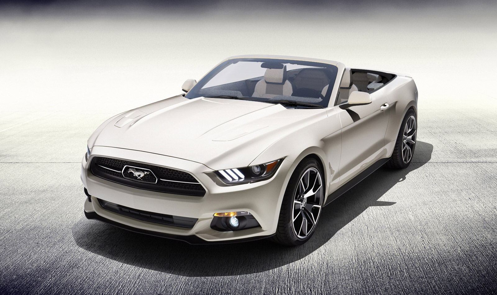 one off 2015 ford mustang 50 year convertible being. Black Bedroom Furniture Sets. Home Design Ideas