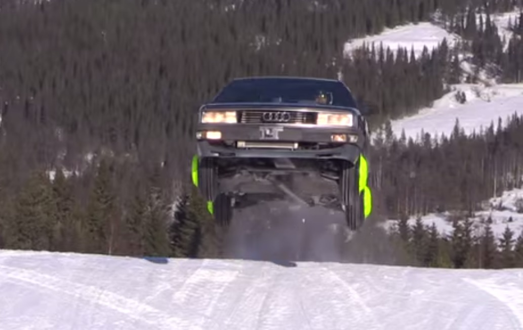 Audi 200 Turbo Tears Up A Snow-Covered Mountain: Video