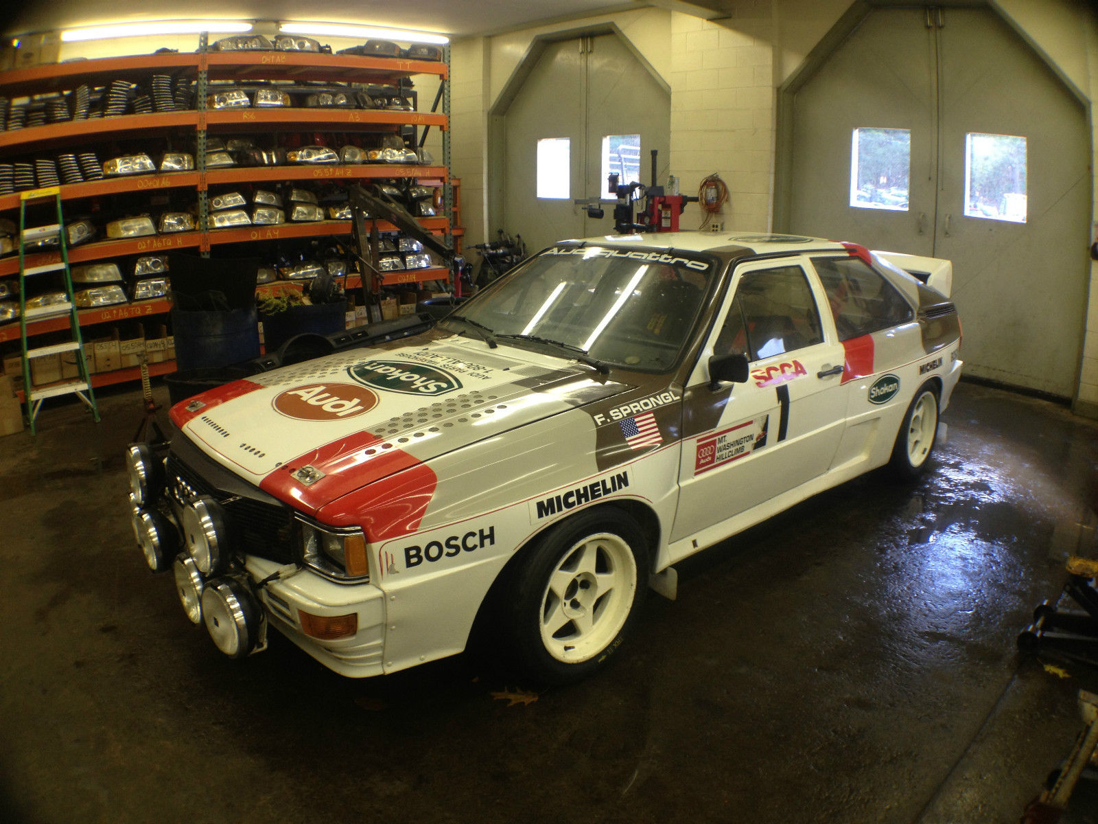 factory built audi quattro group b rally car for sale. Black Bedroom Furniture Sets. Home Design Ideas
