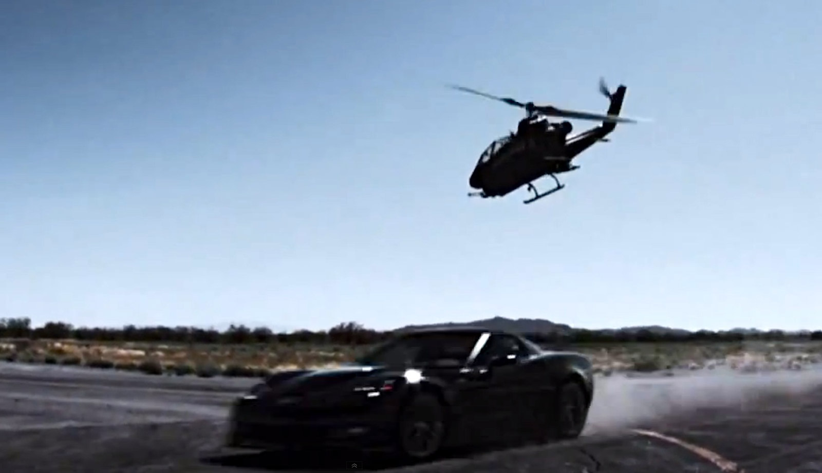 Helicopter Crashes While Racing A Corvette Zr1 On Top Gear