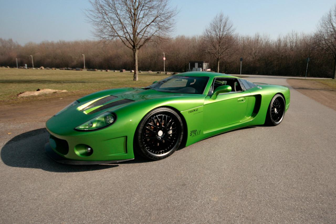 Ccg Customgt Gm Powered Neon Green German Supercar