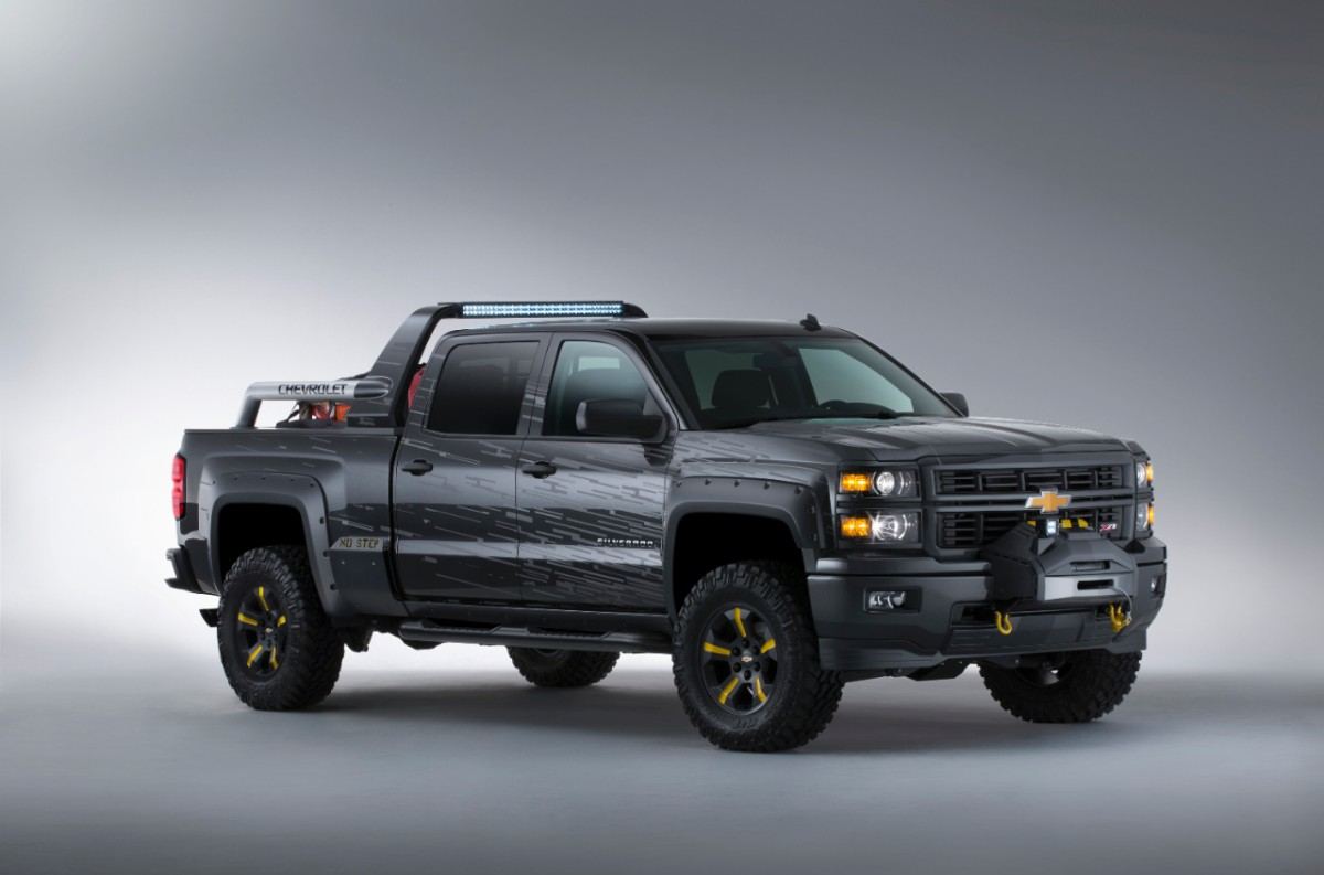 chevy silverado black ops concept is the perfect vehicle for the zombie apocalypse. Black Bedroom Furniture Sets. Home Design Ideas