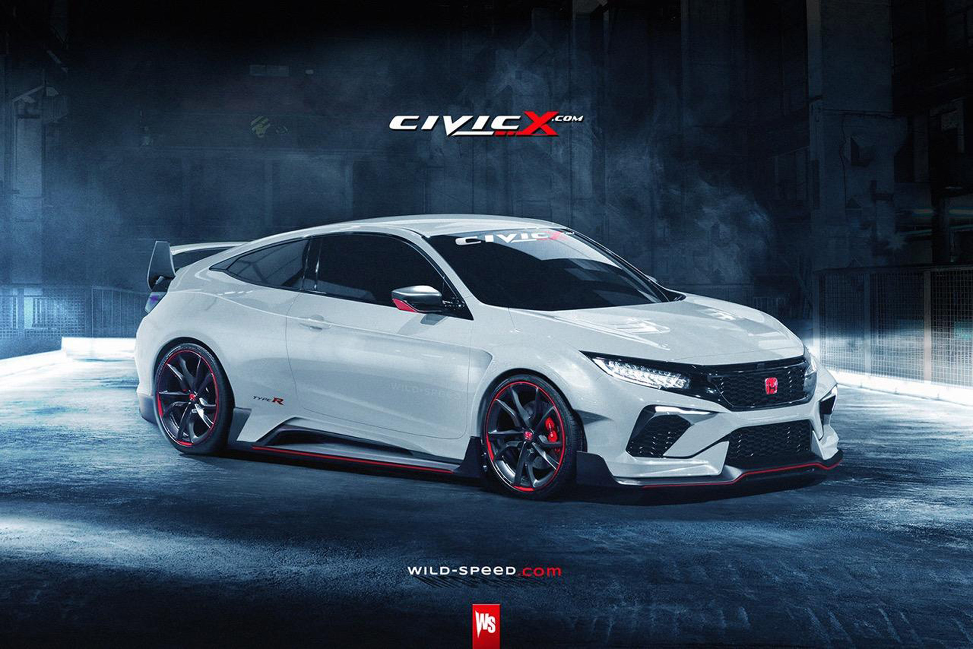 potential 2016 honda civic coupe type r rendered. Black Bedroom Furniture Sets. Home Design Ideas