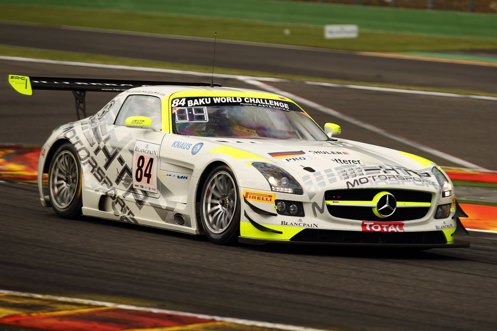 Htp motorsport drives mercedes sls amg gt3 to spa 24 hours for Mercedes benz race cars