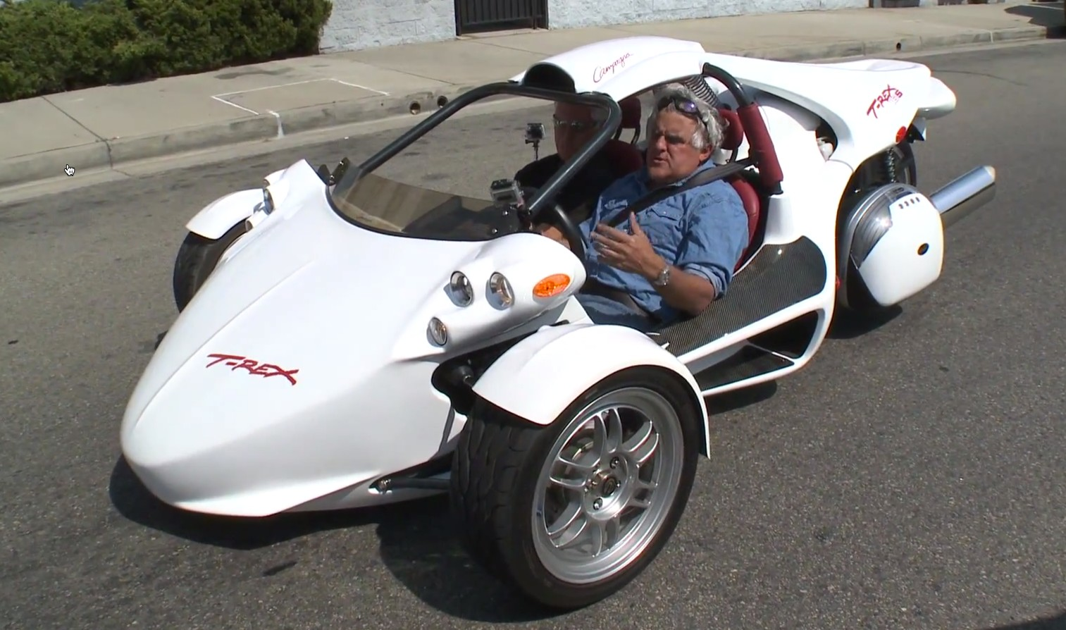 Jay Leno Checks Out Campagna S Latest T Rex Video