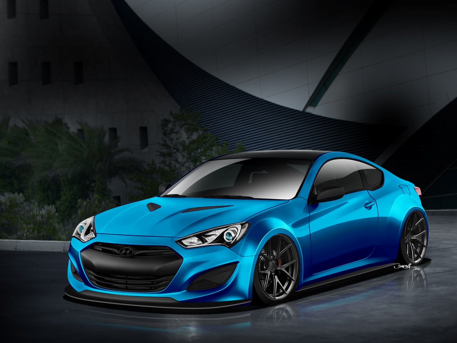 Atlantic blue hyundai genesis coupe will make waves at sema - Hyundai genesis coupe motor ...