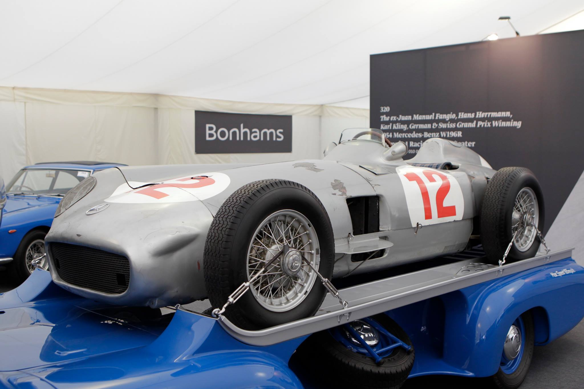 Fangio 39 s mercedes benz 1954 f1 car sold for 29 7 million for Mercedes benz formula 1