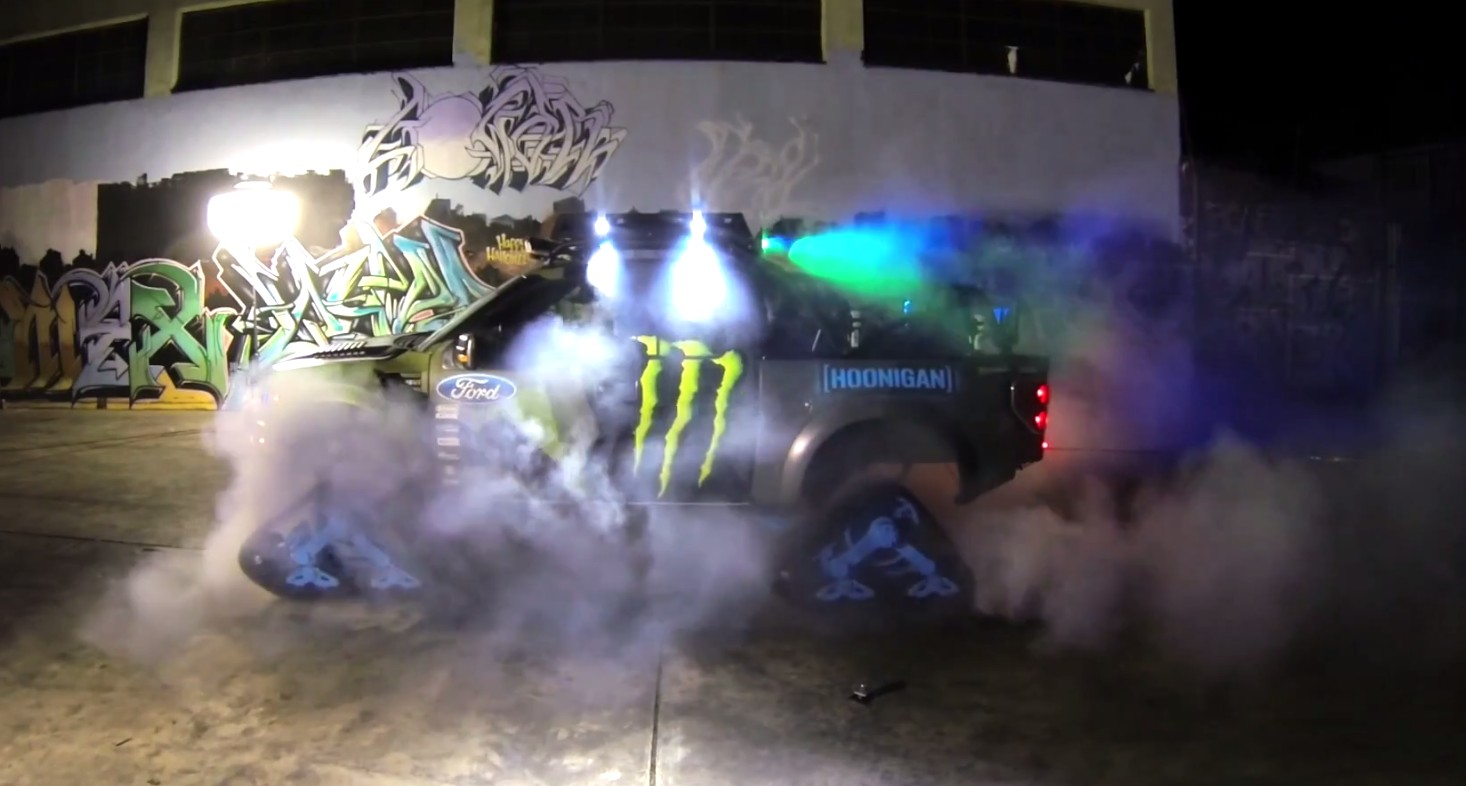 Cadillac Ats V >> This Is What A Ford RaptorTRAX AWD Burnout Looks Like: Video