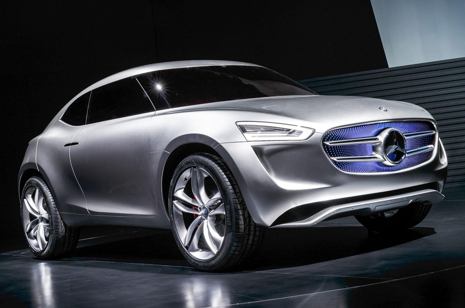 mercedes benz reveals g code subcompact crossover concept. Black Bedroom Furniture Sets. Home Design Ideas