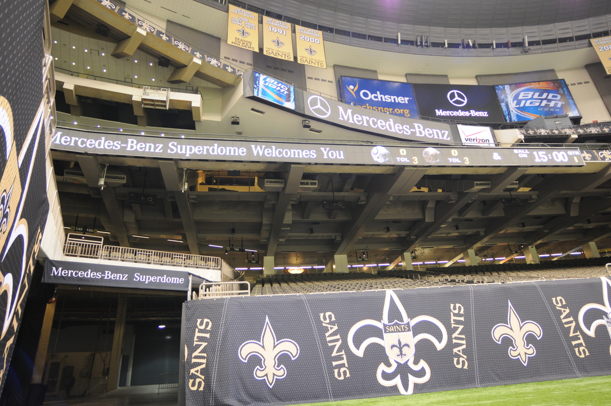 Mercedes benz seals deal to name louisiana superdome for Mercedes benz superdome suites