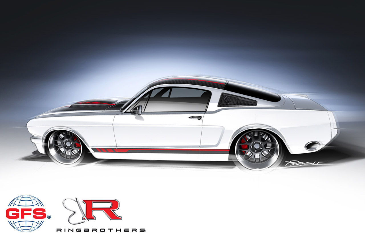 Ring Brothers Custom 1965 Ford Mustang With A 710 Hp Nascar Engine For 2013 Sema Show 100441696