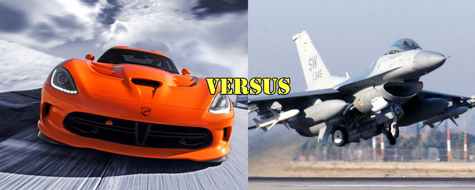 Used Kia Niro >> SRT Viper Races F-16 Viper Fighter Jet: Video