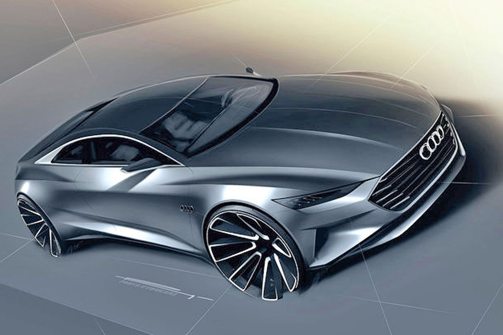 audi prologue concept teased in new sketches could preview flagship a9 coupe. Black Bedroom Furniture Sets. Home Design Ideas