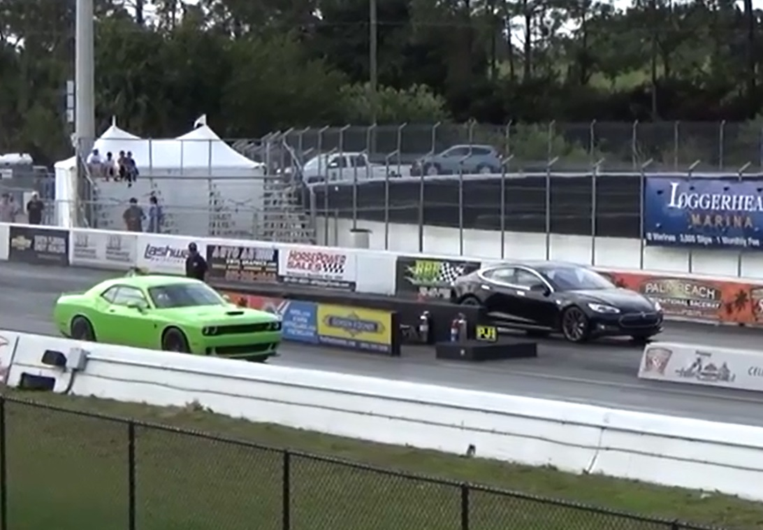 Hellcat Driver Who Lost Drag Race To Tesla P85d Ready For