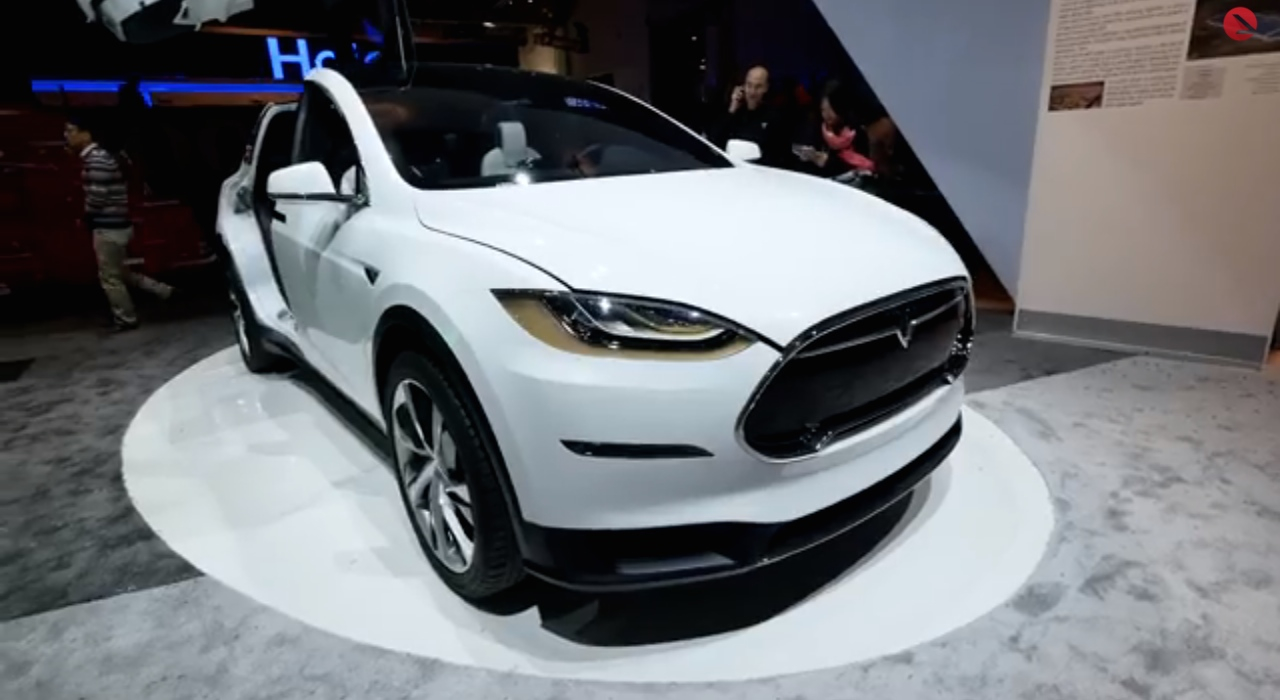 Tesla Model X Appears At Ces Video Walkaround