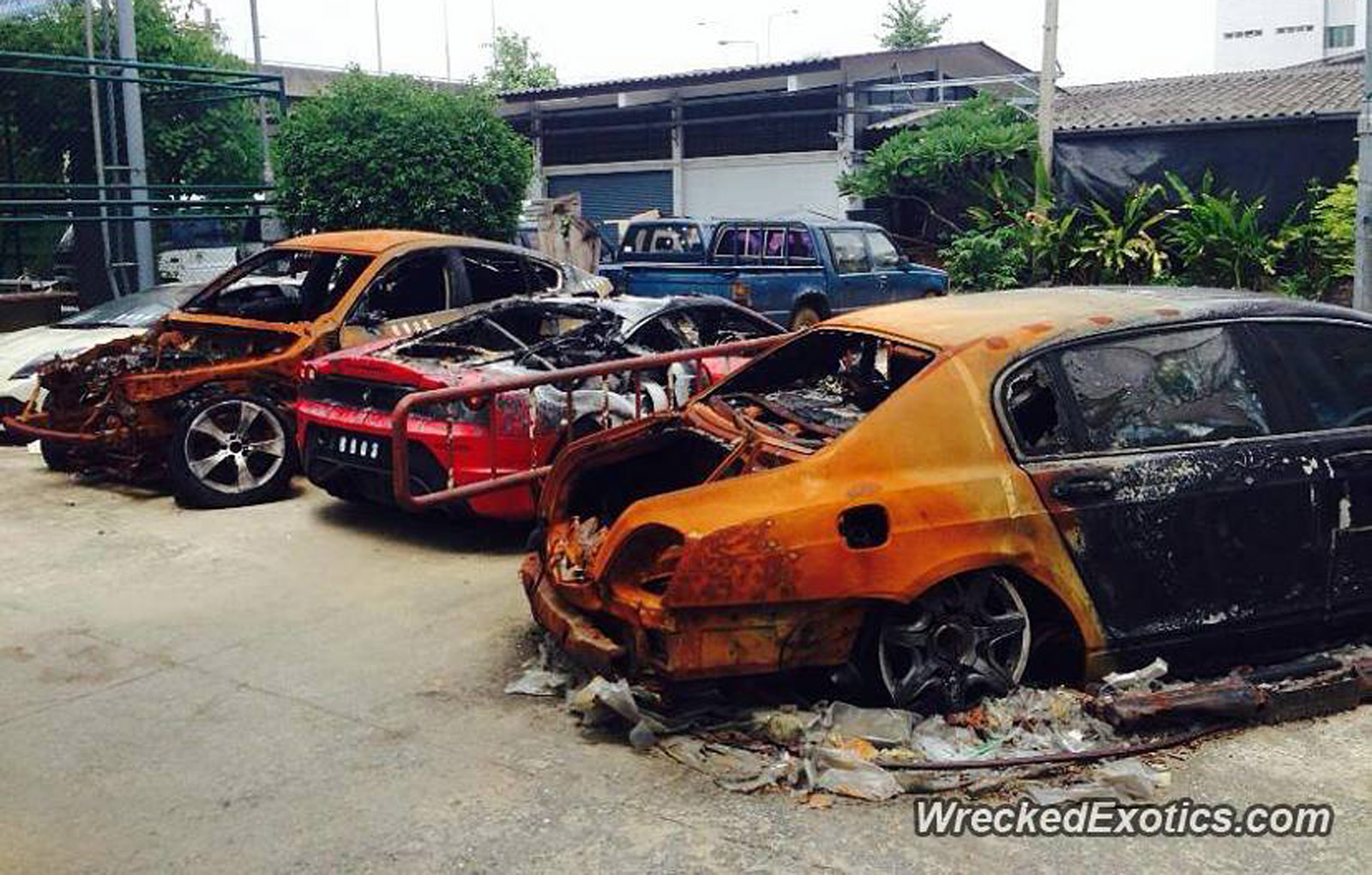 Exotic Cars Destroyed By Fire In Thailand