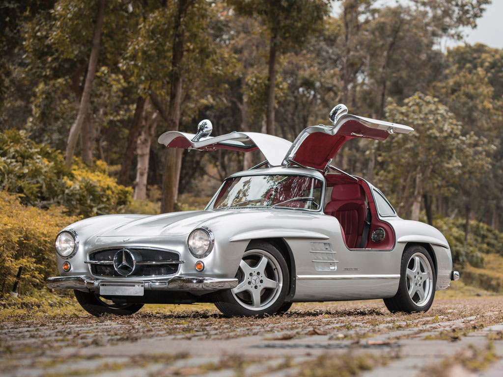 One of eleven amg modded mercedes benz 300sls up for sale for Mercedes benz auction