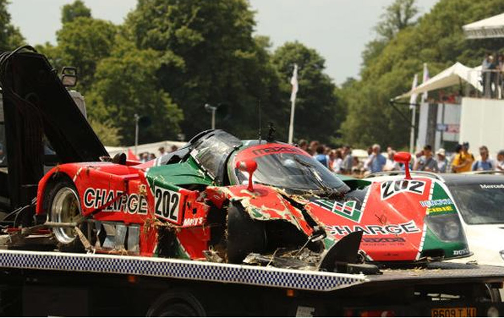 1989 Mazda 767b Le Mans Racer Crashes At The 2015 Goodwood