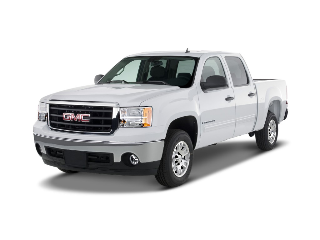 image 2008 gmc sierra 1500 2wd crew cab 143 5 sle2 angular front exterior view size 1024 x. Black Bedroom Furniture Sets. Home Design Ideas