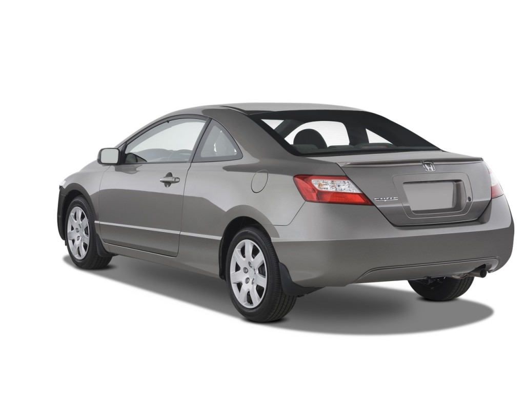 Image 2008 Honda Civic Coupe 2 Door Auto Lx Angular Rear Exterior View Size 1024 X 768 Type