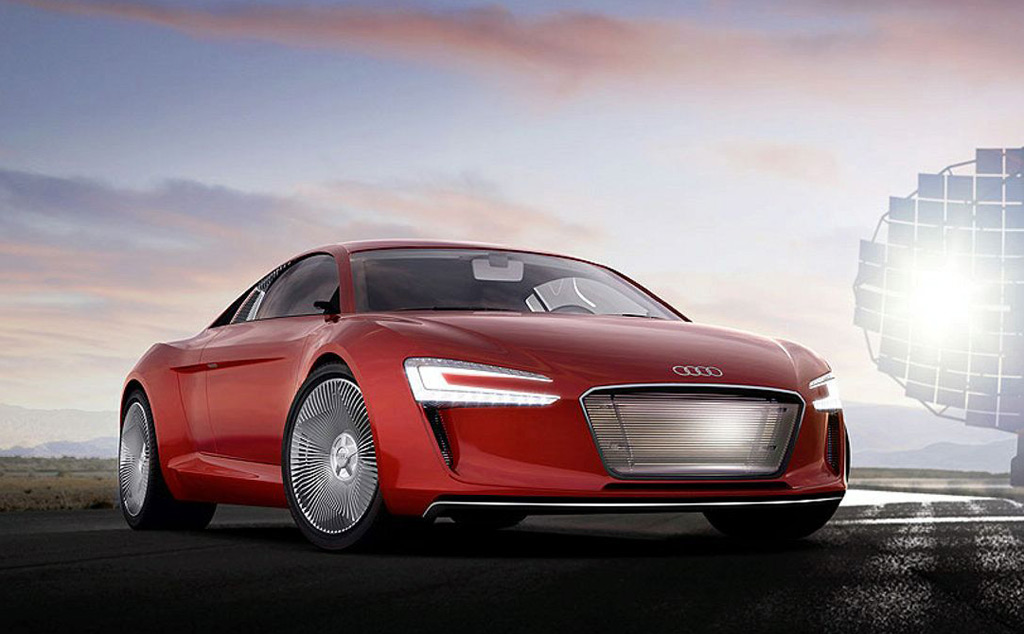 audi r8 e tron concept pictures leaked. Black Bedroom Furniture Sets. Home Design Ideas
