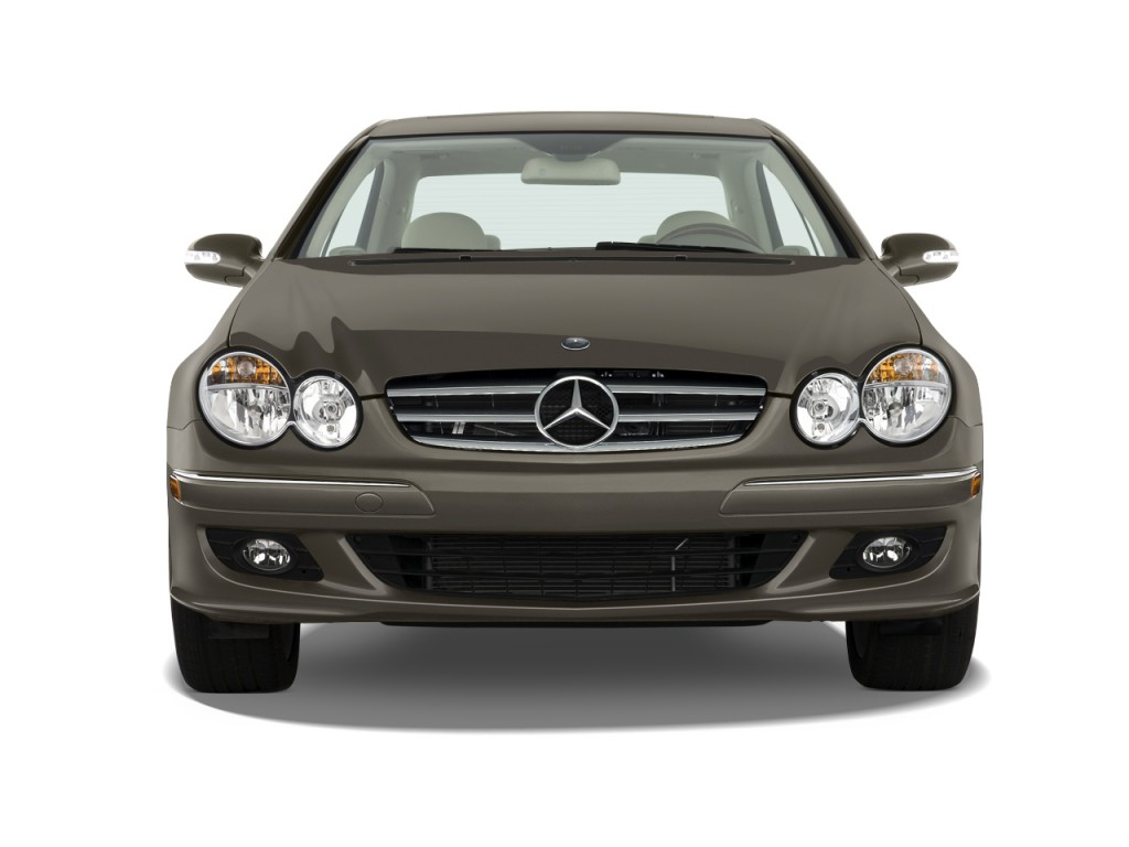 2009 mercedes benz clk class 2 door coupe 3 5l front exterior view. Black Bedroom Furniture Sets. Home Design Ideas