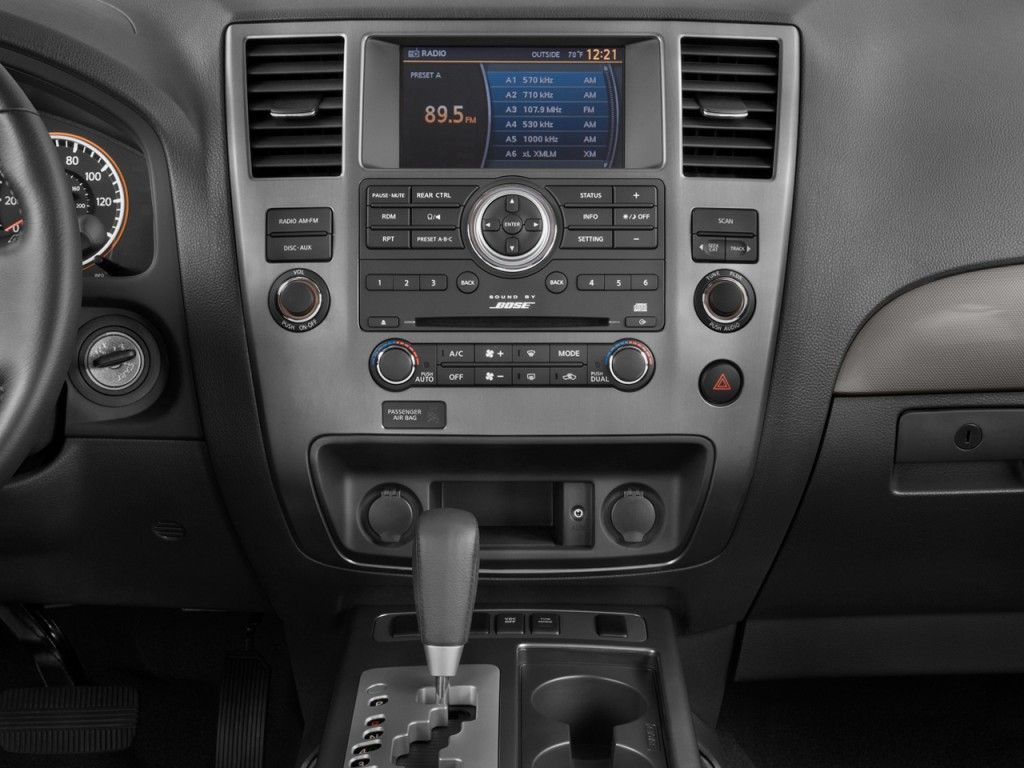 image 2009 nissan armada 2wd 4 door se instrument panel. Black Bedroom Furniture Sets. Home Design Ideas