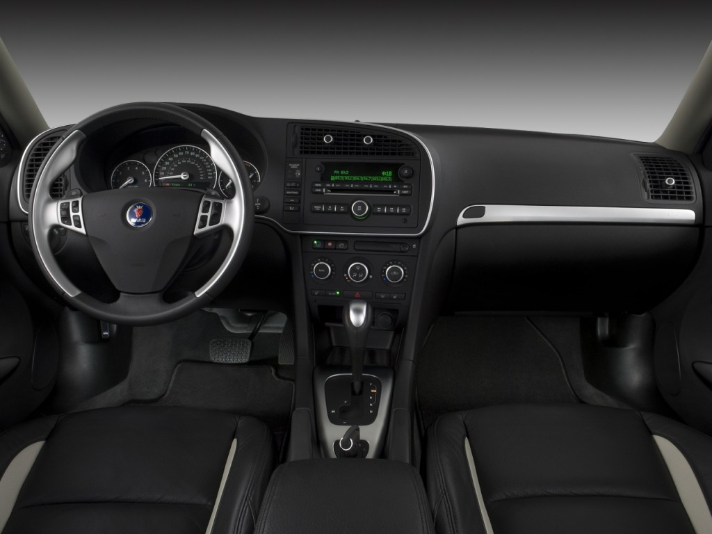image 2009 saab 9 3 4 door sedan 2 0t touring dashboard. Black Bedroom Furniture Sets. Home Design Ideas