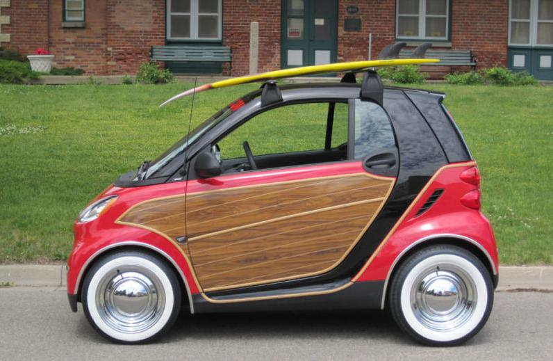 1040526 heinous Car Pic Of The Day Pimped Out Smart Fortwo Woody on carrier bars subaru