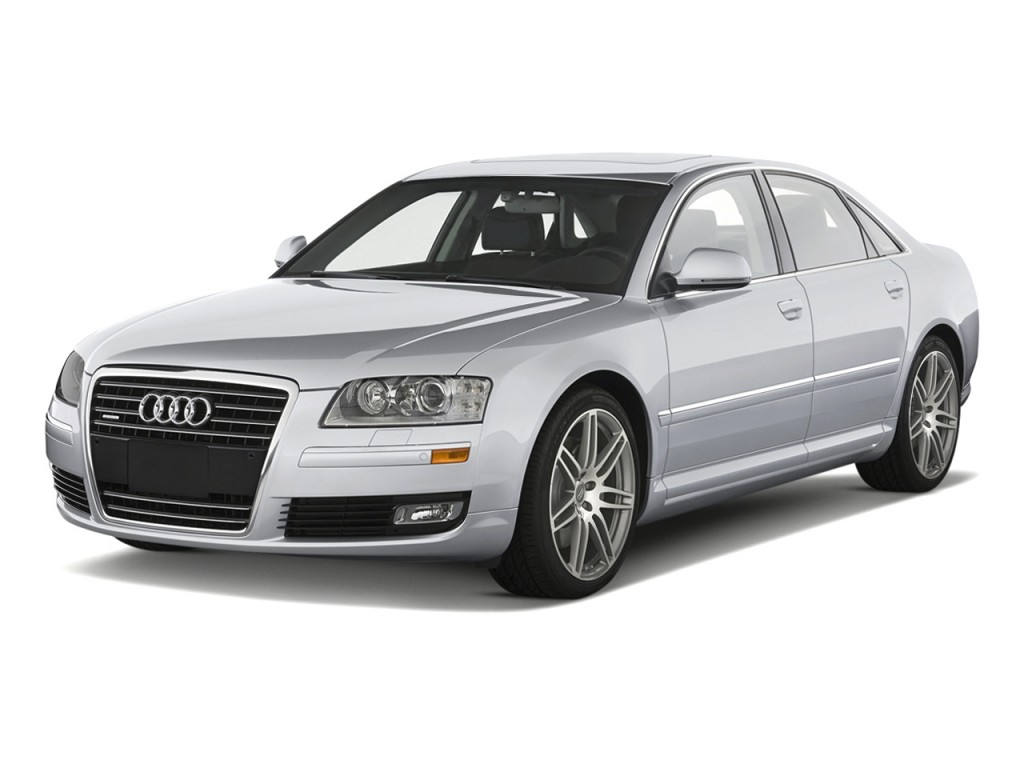 2010 audi a8 4 door sedan angular front exterior view. Black Bedroom Furniture Sets. Home Design Ideas