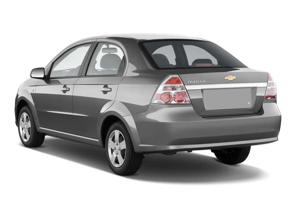 2010 chevrolet aveo 4 door sedan ls angular rear exterior view. Black Bedroom Furniture Sets. Home Design Ideas