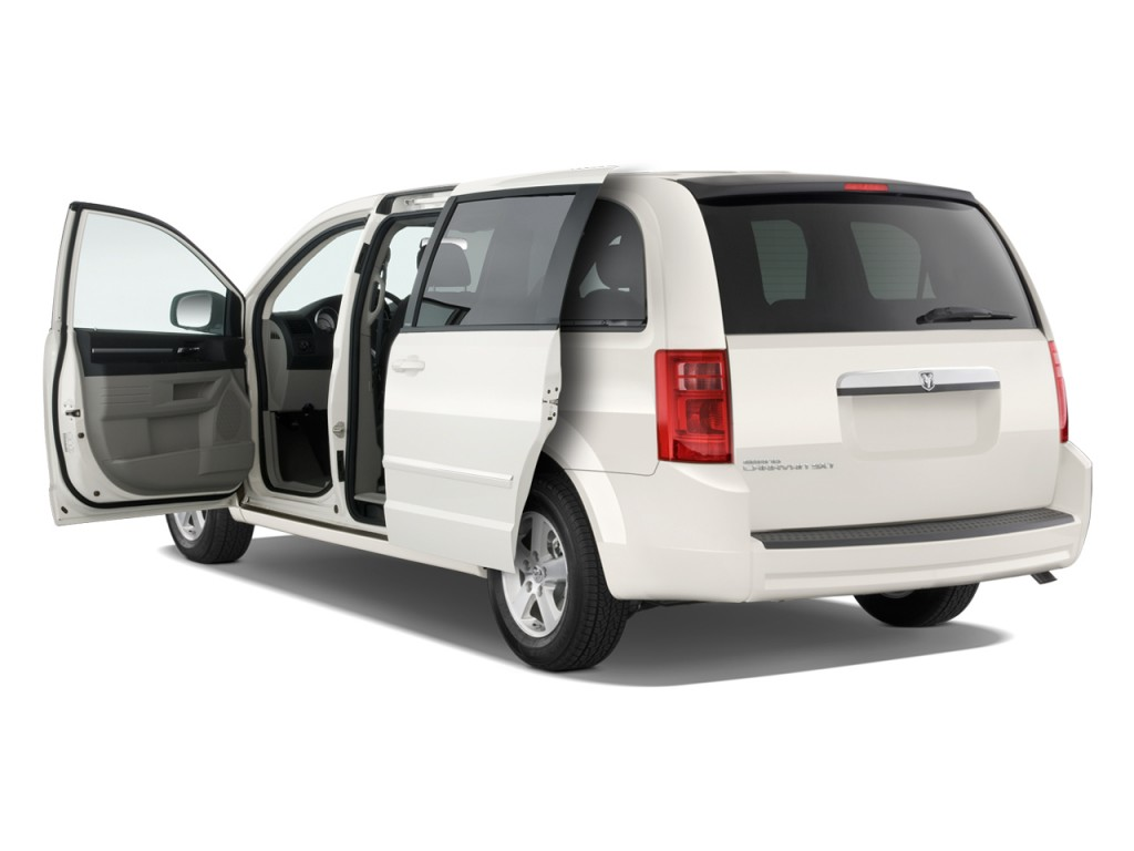 how to open the flaps of a 2010 dodge caravan