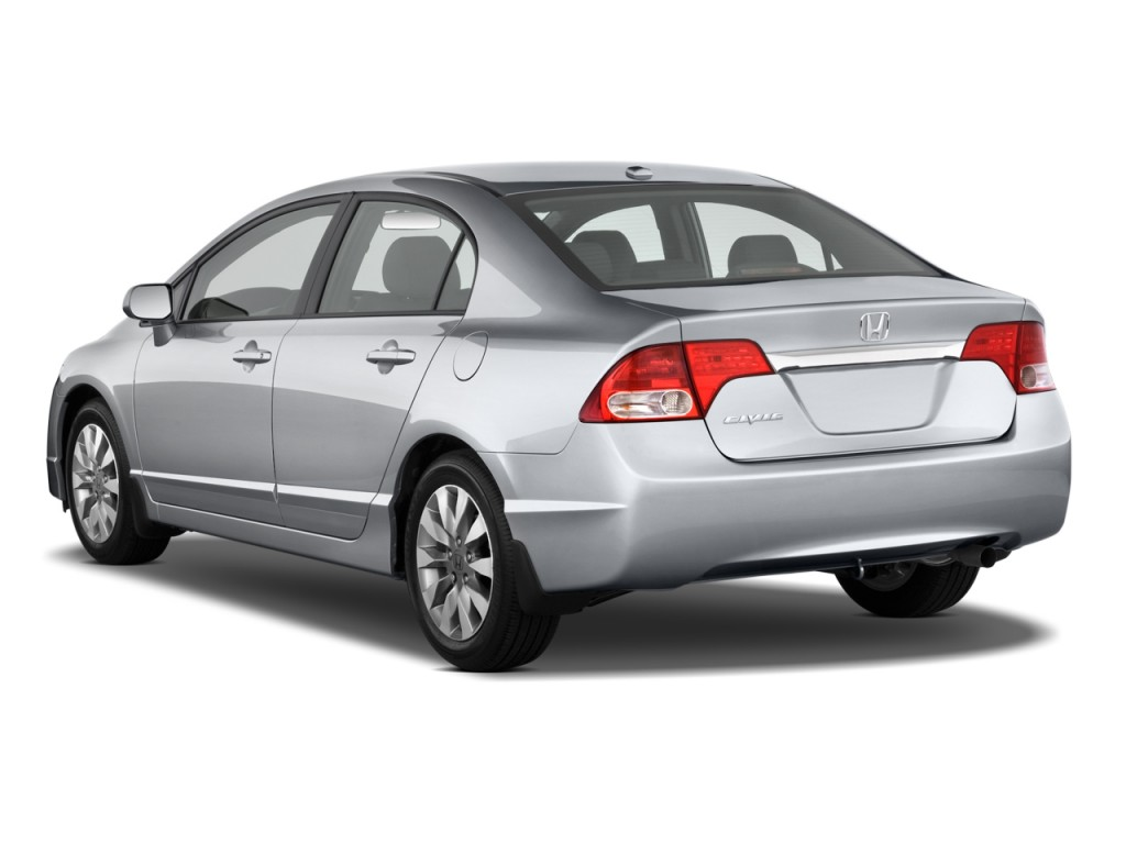 Image 2010 Honda Civic Sedan 4 Door Auto Ex L W Navi Angular Rear Exterior View Size 1024 X