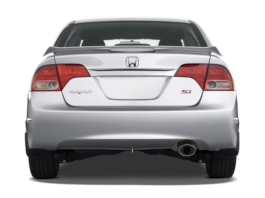 Image 2010 honda civic sedan 4 door man si rear exterior for Rear exterior door