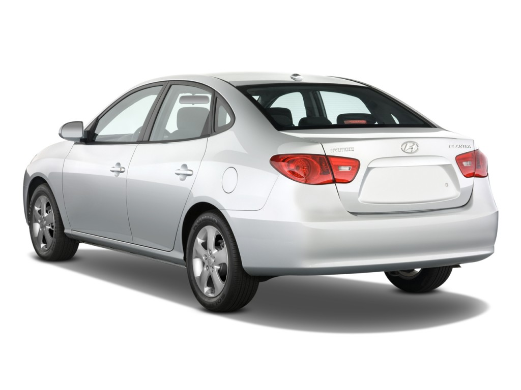 2010 Hyundai Elantra 4 Door Sedan Auto Se Angular Rear Exterior View