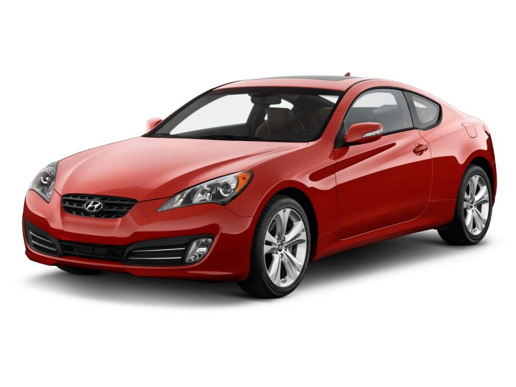 2010 Hyundai Genesis Coupe 2 Door 3 8l Man Grand Touring Angular Front Exterior View