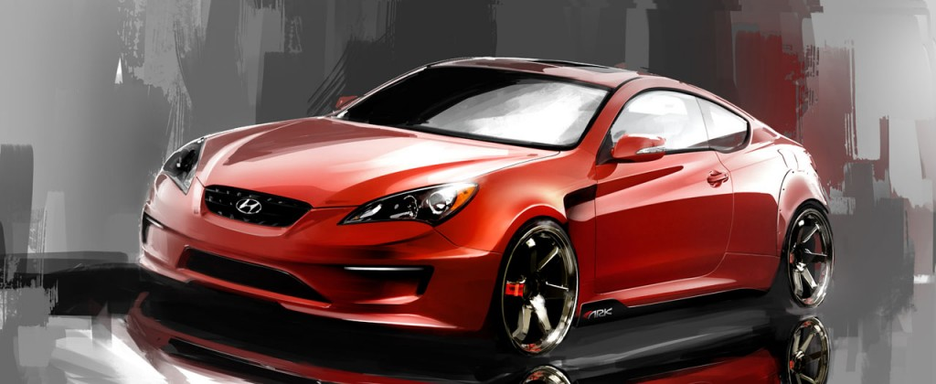 sema 2010 hyundai genesis coupe gets ark ed. Black Bedroom Furniture Sets. Home Design Ideas
