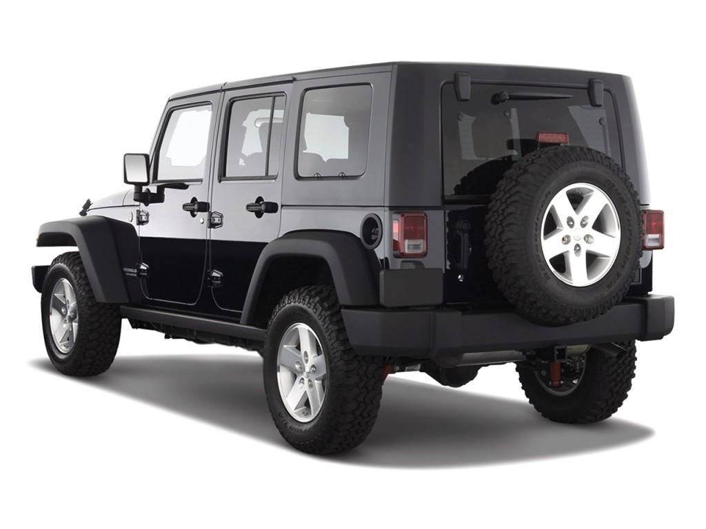 2010 jeep wrangler unlimited 4wd 4 door rubicon angular rear exterior view. Black Bedroom Furniture Sets. Home Design Ideas