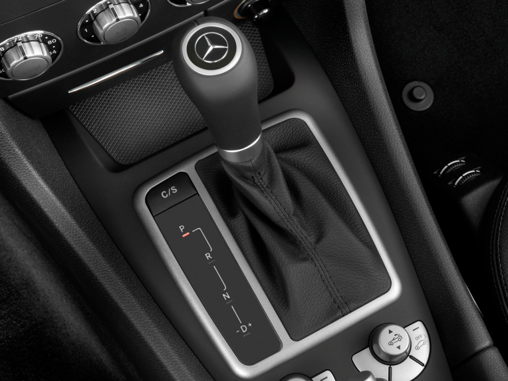 Image 2010 mercedes benz slk class 2 door roadster 3 5l for Mercedes benz gear shift