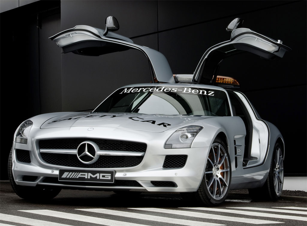 Mercedes benz sls amg picked as official f1 safety car for for Mercedes benz f1 car