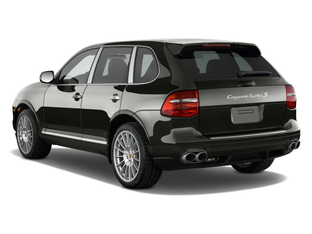 Angular rear exterior view 2010 porsche cayenne awd 4 door turbo s