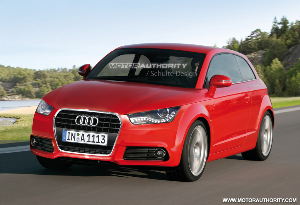 rendered 2011 audi a1 three door. Black Bedroom Furniture Sets. Home Design Ideas