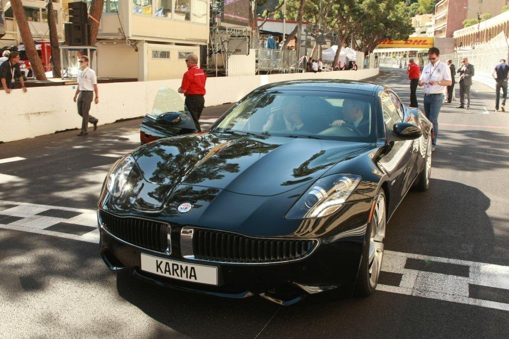 fisker karma hits the track at formula 1 monaco grand prix. Black Bedroom Furniture Sets. Home Design Ideas
